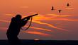 Leinwandbild Motiv duck hunting