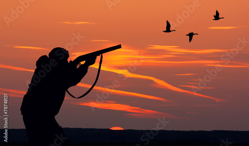 Foto op Canvas Jacht duck hunting