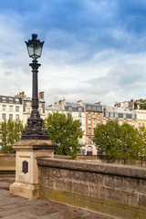 Street lamp of Pont Neuf in Paris