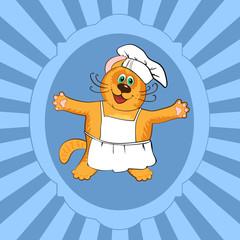Cat chef cook