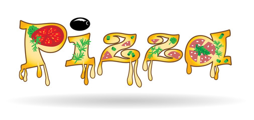 Word of the letters of pizza