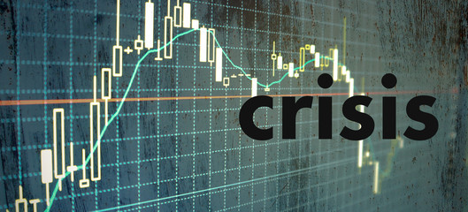 Crisis vertical illustration with text