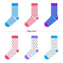 Set of socks with the original design