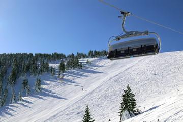 Ski lift in ski resort Kopaonik, Serbia