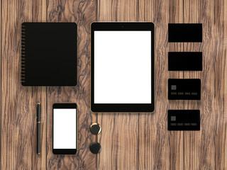 Mockup business template.  Premium