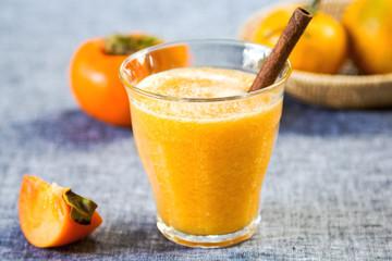 Persimmon with orange smoothie