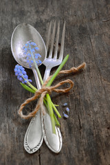 vintage fork and spoon