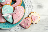 Heart shaped cookies for valentines day