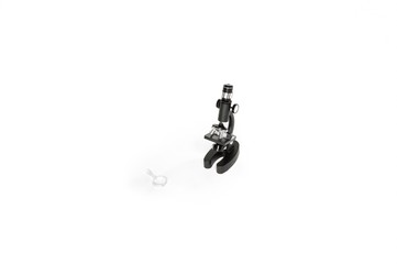 Microscope isolated on white background.