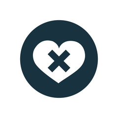 heart plaster icon