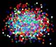 colored vector confetti on black background