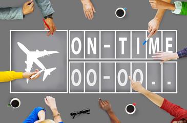 On Time Punctual Efficiency Organization Management Concept