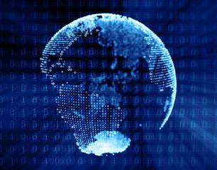 Digital globe planet