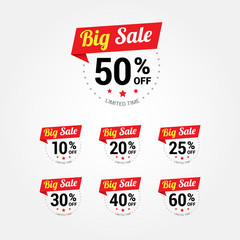 Big Sale % Labels