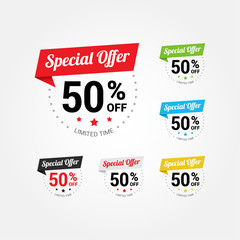 Special Offer 50% Labels