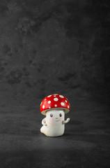 one ceramic mushroom
