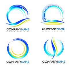 Water Splash Logo. Vector design logos with water splash