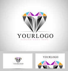 Diamond Logo Design. Vector design logo with diamond