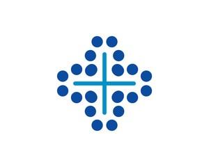 health cross dots