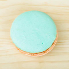 French Macaron top view