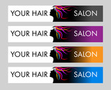 Hair Salon Logo. Creative vector concept with female head