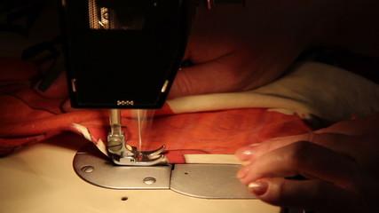 Sewing Machine in Work