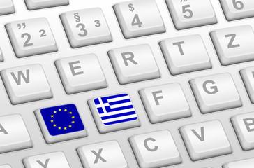Tastatur Griechenland und EU