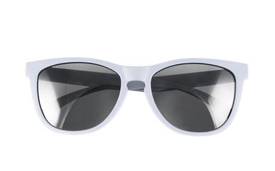 White sun glasses isolated
