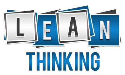 Leaning Thinking Blue Silver Blocks