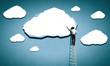 canvas print picture - Computing cloud