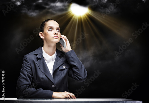 Troubled businesswoman - 78759389
