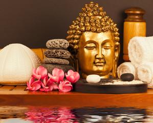 décor institut de massage, bouddha yin yang zen