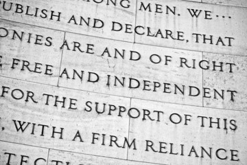 Free and Independent Words at Jefferson Memorial