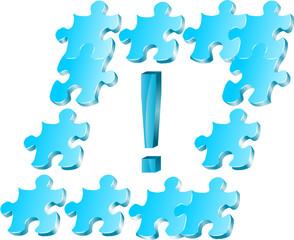 puzzle i wykrzyknik