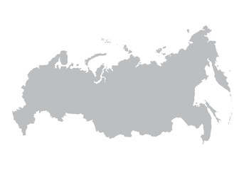 grey map of Russia