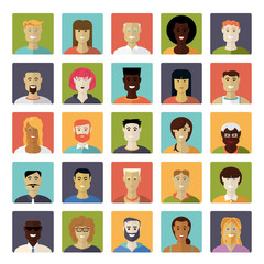 Flat Design Everyday People Avatar Vector Icon Set