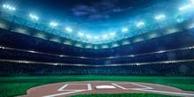 "Постер, картина, фотообои ""Professional baseball grand arena in night"""