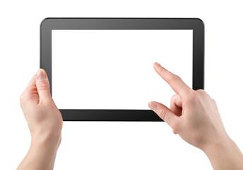 Tablet horizontally