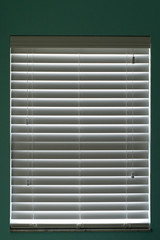 Closed window blinds