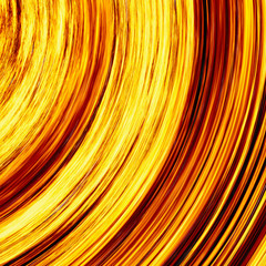 curled bright explosion fire rays on black backgrounds