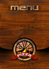 Pizza - Rustic Menu Design