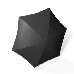 Black umbrella isolated over white