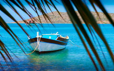 Fishing Boats off the coast of Crete, Greece