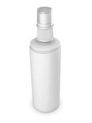 White tube isolated on a white background
