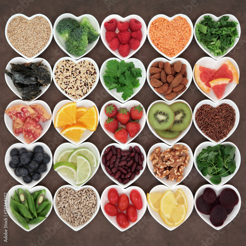 Fotobehang Assortiment Beauty Detox Food