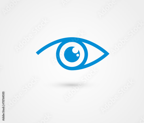 Fototapeta Eye vector logo design template
