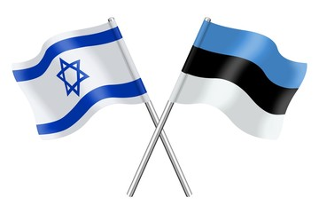 Flags: Israel and Estonia