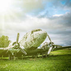 abandoned warplane