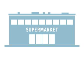 Supermarket vector icon on white background