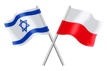Flags: Israel and Poland